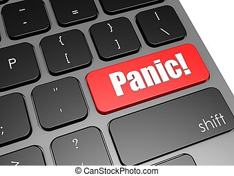 Panic with black keyboard
