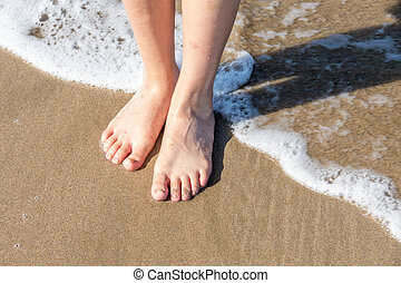 panieński, seawater, feet