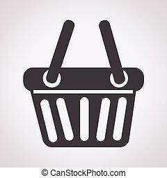 panier, achats, icône
