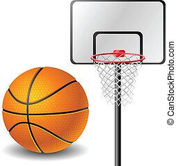 panier, boule basket-ball