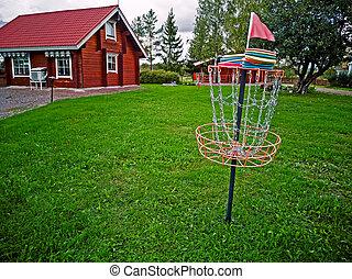panier, disque, golf