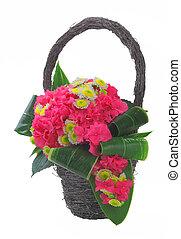 panier, fleurs, 01, tas