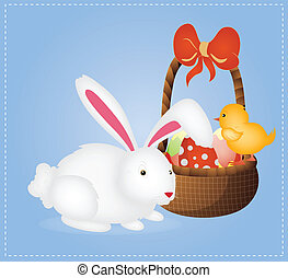 panier, lapin pâques