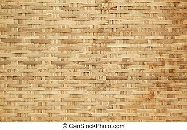 panier, modèle, bambou, tissage