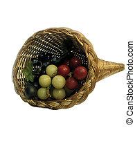 panier, raisins