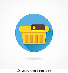 panier, vecteur, achats, vide, icône