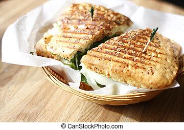 Panini sandwich - A delicious panini sandwich.