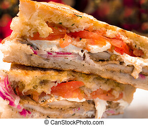 Panini Sandwich - Italian Chicken and Mozzarella cheese...