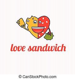 panino, amore, cartone animato