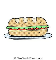 panino, cartone animato, sub