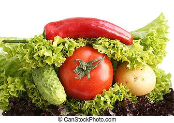panino, da, vegetables.