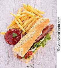 panino, frigge, francese