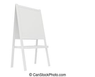 panino, interpretazione, fondo, vuoto, board., bianco, 3d