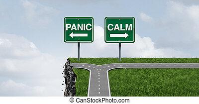 panique, calme