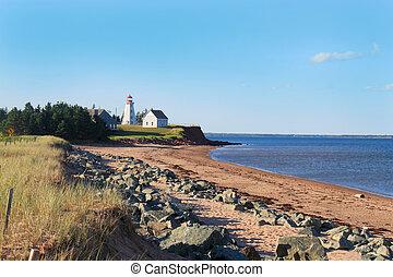 panmure, île, phare