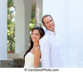 panna młoda, para, żonaty, śródziemnomorski, właśnie