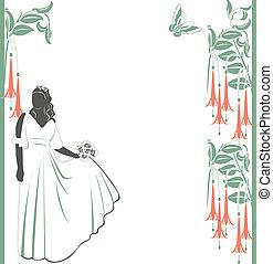 panna młoda, poślubne zaproszenie