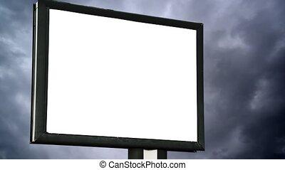 panneau affichage, écran, vide, vide