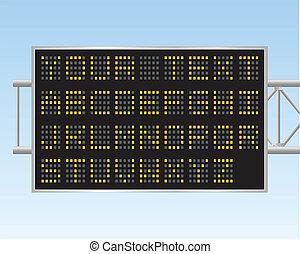 panneau affichage, électronique