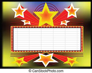panneau affichage, étoiles
