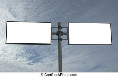 panneau affichage, ajouter, message blanc, ton