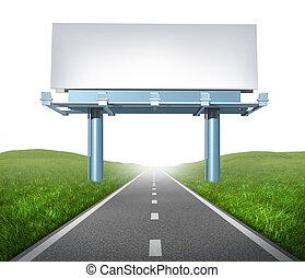 panneau affichage, autoroute