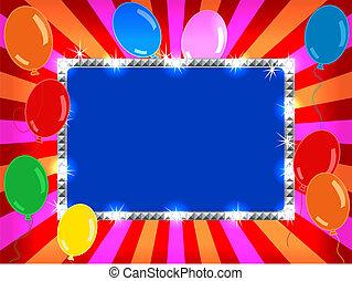 panneau affichage, ballons