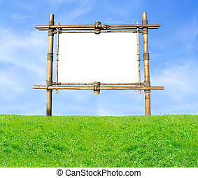 panneau affichage, bambou