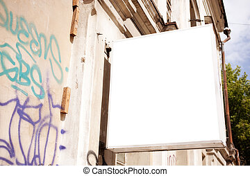 panneau affichage, blanc