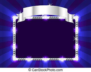 panneau affichage, bleu