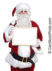 panneau affichage, brin, claus, santa