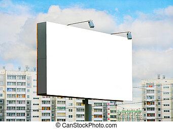 panneau affichage, centre, ville