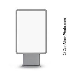 panneau affichage, fond blanc