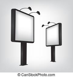 panneau affichage, illustration, vide