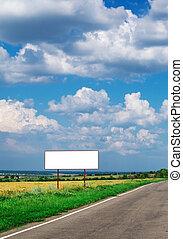 panneau affichage, longue route