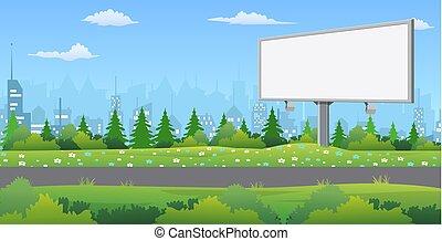 panneau affichage, road.