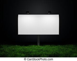 panneau affichage, rue, publicité, vide