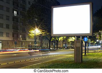 panneau affichage, rue ville