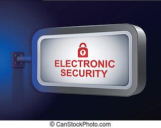 panneau affichage, sécurité, électronique, mots