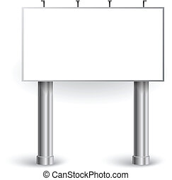 panneau affichage, vecteur, |, illustration