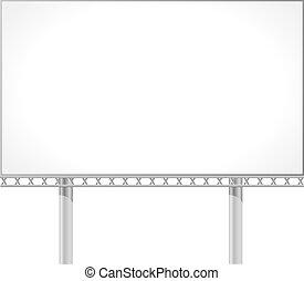 panneau affichage, vecteur, illustration