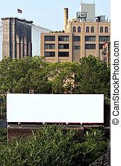 panneau affichage, ville, annonce, espace