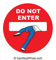 panneau, arrêt, signe, interdit, privé