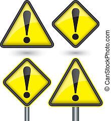 exclamation panneau avertissement marque jaune vecteurs eps rechercher des clip art des. Black Bedroom Furniture Sets. Home Design Ideas