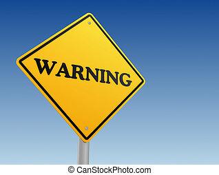 panneau avertissement, concept, 3d, illustration