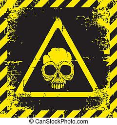panneau avertissement, de, danger