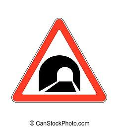 panneau avertissement, route