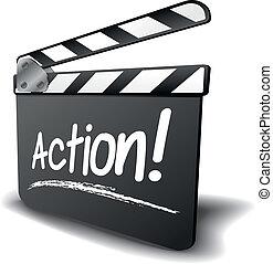 panneau clapet, action