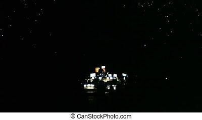 panneau, dj, salle concert
