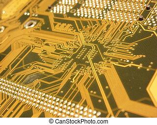 panneau ordinateur, circuit